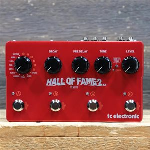 TC ELECTRONIC HALL OF FAME 2 X4 REVERB WITH MASH SWITCHES REVERB EFFECT PEDAL AVEC BOITE #S190600396DHT