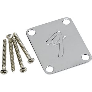 FENDER NECK PLATE F CHROME