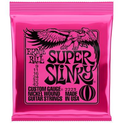 ERNIE BALL 2223 SUPER SLINKY NICKEL WOUND - 9-42
