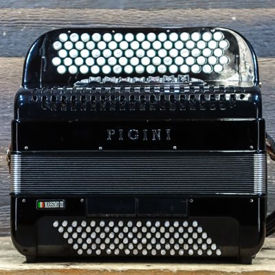PIGINI MASSIMO III 96-BASS 77-TREBLE BUTTON SYSTEM C BLACK