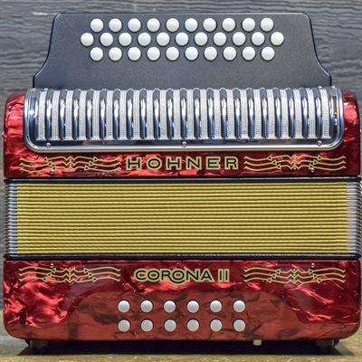 HOHNER CORONA II SOL—DO-FA RED GIGBAG