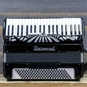 UNIVERSAL ACCORDION 120 BASSES 41 NOTES 7 TREBLE SWITCH BLACK PIANO ACCORDION AVEC ÉTUI RIGIDE