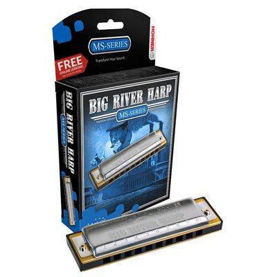 HOHNER BIG RIVER HARP 590BX-BF DIATONIQUE, CLÉ DE BF