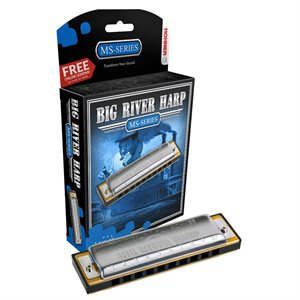 HOHNER BIG RIVER HARP 590BX-F DIATONIQUE, CLÉ DE F