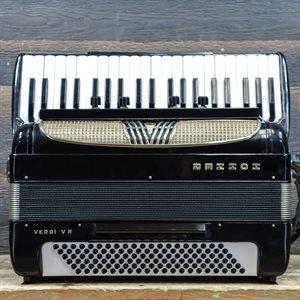 HOHNER VERDI V N 120-BASS 41-KEY 11-TREBLE SWITCHES BLACK PIANO ACCORDION AVEC ÉTUI RIGIDE