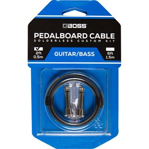 BOSS BCK-2 SOLDERLESS PEDALBOARD CABLE KIT 2FT – 2 CONNECTORS