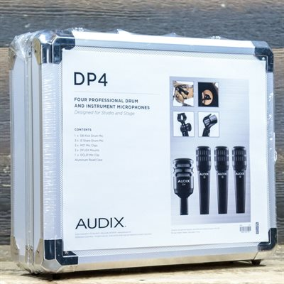 AUDIX DP4 PROFESSIONAL 4-PIECE DRUM / PERCUSSION / INSTRUMENT MICROPHONE PACKAGE