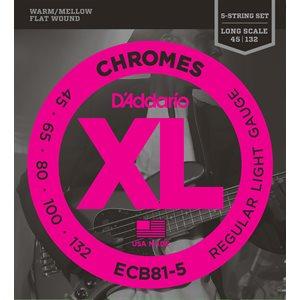 D'ADDARIO ECB81-5 CHROMES BASS 5 STRING, LIGHT, 45-132, LONG SCALE