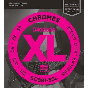 D'ADDARIO ECB81-5SL CHROMES BASS 5 STRING, LIGHT, 45-132, SUPER LONG SCALE