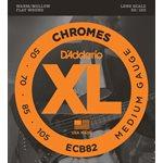 D'ADDARIO ECB82 CHROMES BASS, MEDIUM, 50-105, LONG SCALE