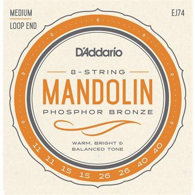 D'ADDARIO EJ74 MANDOLIN, PHOSPHOR BRONZE, MEDIUM, 11-40