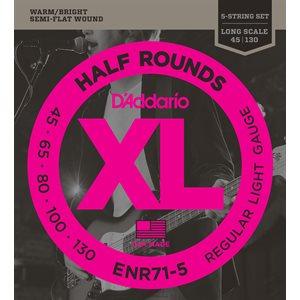 D'ADDARIO ENR71-5 HALF ROUNDS 5 STRING BASS, REGULAR LIGHT, 45-130, LONG SCALE