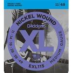 D'ADDARIO EXL115 NICKEL WOUND, MEDIUM/BLUES-JAZZ ROCK, 11-49