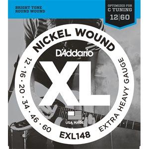 D'ADDARIO EXL148 NICKEL WOUND, EXTRA-HEAVY, 12-60
