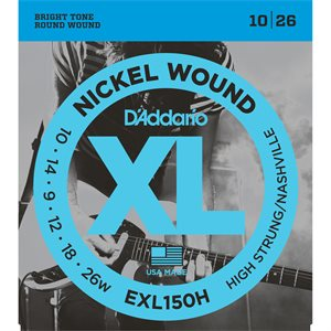 DADDARIO EXL150H NICKEL WOUND ELECTRIC GUITAR STRINGS, HIGH-STRUNG/NASHVILLE TUNING, 10-26