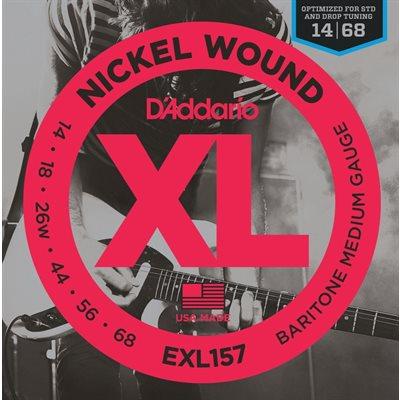 D'ADDARIO EXL157 NICKEL WOUND, BARITONE MEDIUM, 14-68