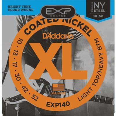 D'ADDARIO EXP140 COATED NICKEL WOUND, LIGHT TOP/HEAVY BOTTOM, 10-52