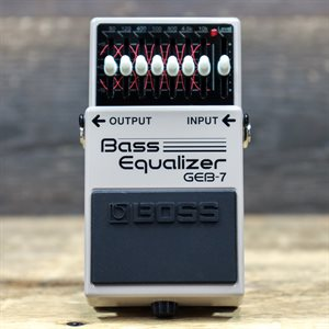 BOSS GEB-7 BASS EQUALIZER 50HZ TO 10KHZ SEVEN-BAND