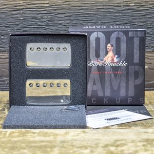 BARE KNUCKLE BOOT CAMP BRUTE FORCE HUMBUCKER SET 6-STRING 53MM NICKEL COVERS #HUM6SBF-CNIK53