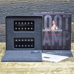 BARE KNUCKLE BOOT CAMP TRUE GRIT HUMBUCKER SET 6-STRING 50MM BLACK COILS #HUM6STG-OBLK50