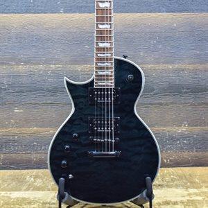 ESP LTD EC-1000 PIEZO LEFT-HANDED SEE THRU BLACK ELECTRIC GUITAR #IW18031508