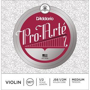 DADDARIO PRO-ARTE VIOLIN STRING SET, 1/2 SCALE, MEDIUM TENSION