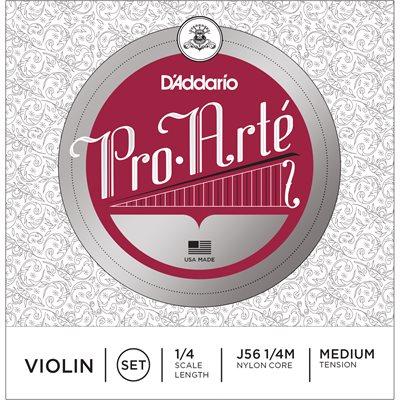 D'ADDARIO PRO-ARTE VIOLIN STRING SET, 1/4 SCALE, MEDIUM TENSION