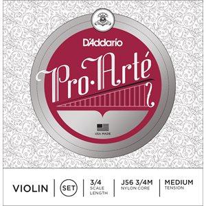 DADDARIO PRO-ARTE VIOLIN STRING SET, 3/4 SCALE, MEDIUM TENSION