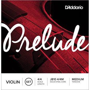 DADDARIO PRELUDE VIOLIN STRING SET, 4/4 SCALE, MEDIUM TENSION