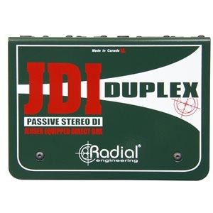 RADIAL ENGINEERING JDI DUPLEX PREMIUM STEREO PASSIVE DI R800 1020 00