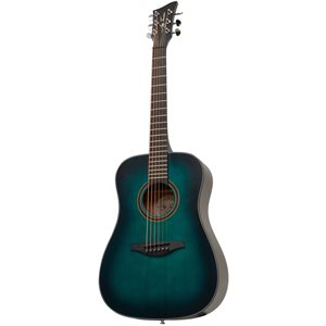 JAY TURSER JTA53-SBL 3/4 ACOUSTIC GUITAR, SATIN BLUE