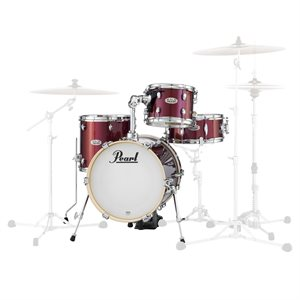 PEARL MDT764PC704 MIDTOWN SERIES MDT764PC704 4-PIECE SHELL PACK BLACK CHERRY GLITTER (1614BD, 1007T, 1312FT, 1355SD)