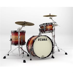 TAMA ME30CMBS-LRWB STARCLASSIC MAPLE 3 MORCEAUX EXOTIC RUBY PACIFIC WALNUT BURST BLACK NICKEL HARDWARE (2014BD, 1208T, 1414FT)