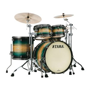TAMA ME42TZUS-LEWB STARCLASSIC MAPLE 4-PIECE EXOTIC EMERALD PACIFIC WALNUT BURST SMOKED BLACK NICKEL HARDWARE (2216BD, 1007T, 1208T, 1616FT)
