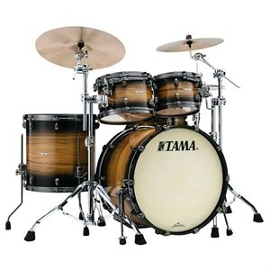 TAMA ME42TZUS-LNWB STARCLASSIC MAPLE 4-PIECE EXOTIC NATURAL PACIFIC WALNUT BURST SMOKED BLACK NICKEL HARDWARE (2216BD, 1007T, 1208T, 1616FT)