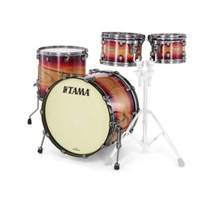 TAMA ME42TZUS-RWB STARCLASSIC MAPLE 4-PIECE EXOTIC RUBY PACIFIC WALNUT BURST SMOKED BLACK NICKEL HARDWARE (2216BD, 1007T, 1208T, 1616FT)