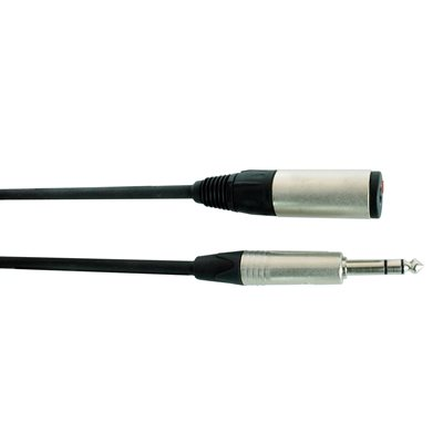 DIGIFLEX NSJ-25 TOUR SERIES HEADPHONE 1/4 TRS EXTENSIONS MALE TO FEMALE, 25 PIEDS