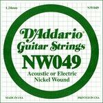 D'ADDARIO NW049 NICKEL WOUND ELECTRIC GUITAR SINGLE STRING .049