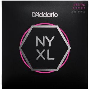 D'ADDARIO NYXL45100, SET LONG SCALE, REGULAR LIGHT, 45-100