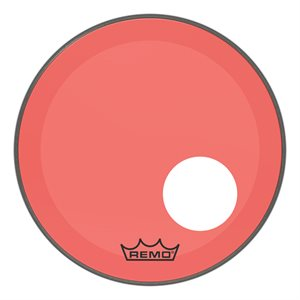REMO P3 COLORTONE RED BASS OFFSET HOLE 18 P3-1318-CT-RDOH