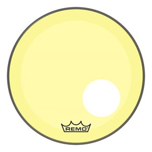 REMO P3 COLORTONE YELLOW BASS OFFSET HOLE 18 P3-1318-CT-YEOH