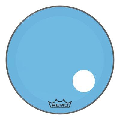 REMO P3 COLORTONE BLUE BASS OFFSET HOLE 24 P3-1324-CT-BUOH