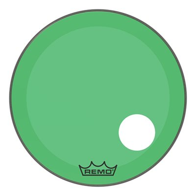 REMO P3 COLORTONE GREEN BASS OFFSET HOLE 24 P3-1324-CT-GHOH