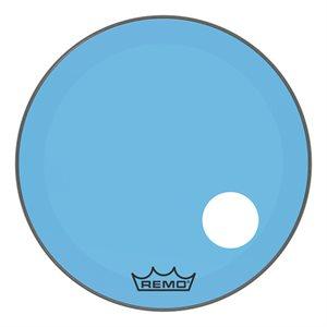 REMO P3 COLORTONE BLUE BASS OFFSET HOLE 26 P3-1326-CT-BUOH