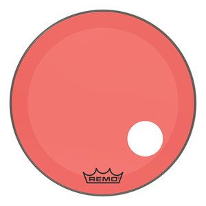 REMO P3 COLORTONE RED BASS OFFSET HOLE 26 P3-1326-CT-RDOH