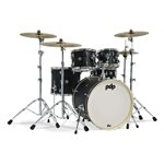 PACIFIC DRUMS PDST2215BK SPECTRUM 5PCS EBONY STAIN SHELL PACK (22, 10, 12, 16, 14S)