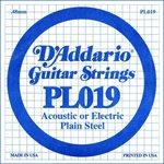 D'ADDARIO PL019 PLAIN STEEL GUITAR SINGLE STRING .019