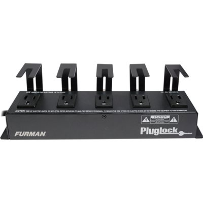 FURMAN PLUGLOCK 15A POWER DISTRIBUTION STRIP (NO SURGE PROTECTION), 5 SPACED OUTLETS W/BRACKETS, 5-FT CORD
