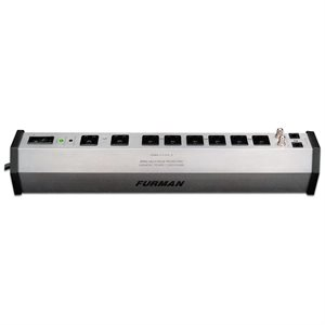 FURMAN PST-8 15A 8 OUTLET SURGE SUPPRESSOR STRIP W/SMP, LIFT AND EVS