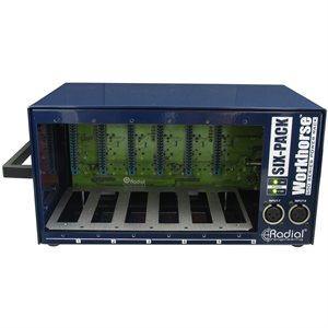 RADIAL ENGINEERING WORKHORSE SIXPACK 500 SERIES 6-SLOT DESKTOP POWER RACK R700 0108 00